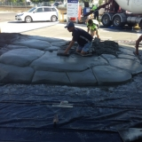 Building the artificial cement rock ramp