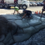 Building the artificial cement rock ramp2