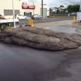 Finished artificial cement rock ramp in Brisbane - front3