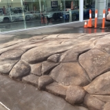 Finished artificial cement rock ramp in Brisbane - side2