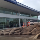 Finished artificial cement rock ramp in Brisbane - side3