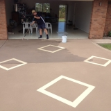 Concrete resurfacing diamond pattern - Brisbane