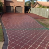 Concrete resurfacing latice pattern - Brisbane