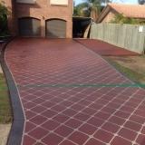 Concrete resurfacing latice pattern - Brisbane