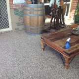 Exposed aggregate concrete for patio- Brisbane
