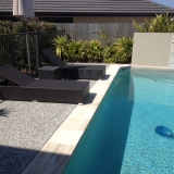 Exposed aggregate concrete for pool - Brisbane 3