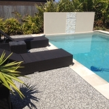 Exposed aggregate concrete for pool - Brisbane