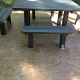 Stamped concrete natural wet rock look - Outdoor setting in Brisbane 3