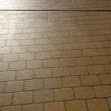 Brick stencil driveway (close up) - Brisbane